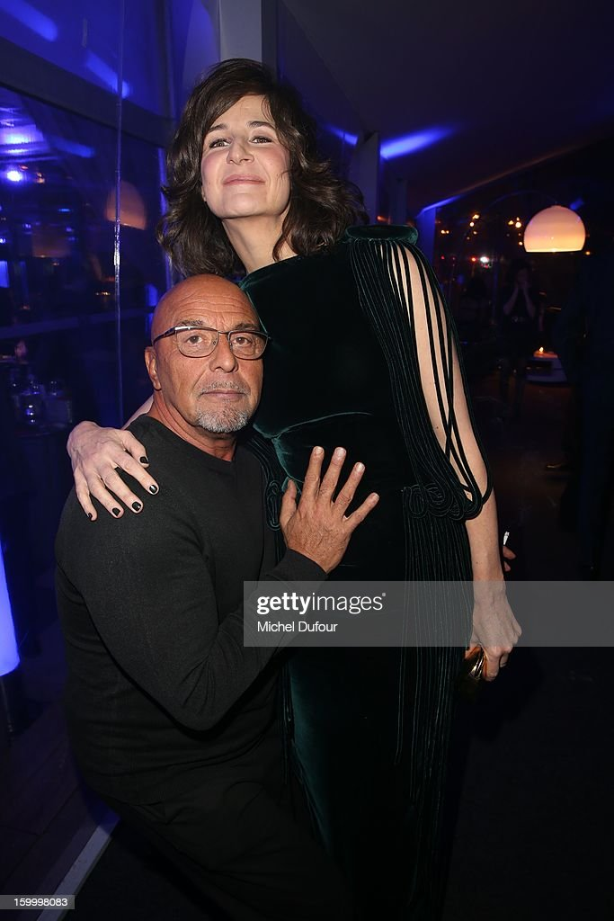 Jean Baptiste Mondino and <a gi-track='captionPersonalityLinkClicked' href=/galleries/search?phrase=Valerie+Lemercier&family=editorial&specificpeople=833898 ng-click='$event.stopPropagation()'>Valerie Lemercier</a> attend the Sidaction Gala Dinner 2013 at Pavillon d'Armenonville on January 24, 2013 in Paris, France.