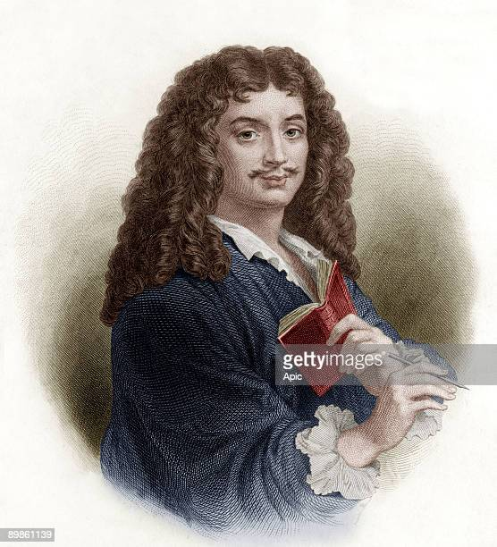 Jean Baptiste Poquelin aka Moliere french playwright engraving by Massard and Delannoy after a drawing by G Staal