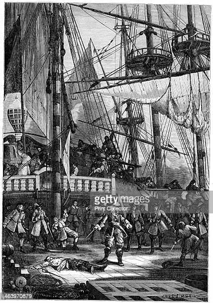Jean Bart kills the Dutch captain of the 'Neptune' 1898 A print from Les Français Illustres by Gustave Demoulin Hachette Paris 1898