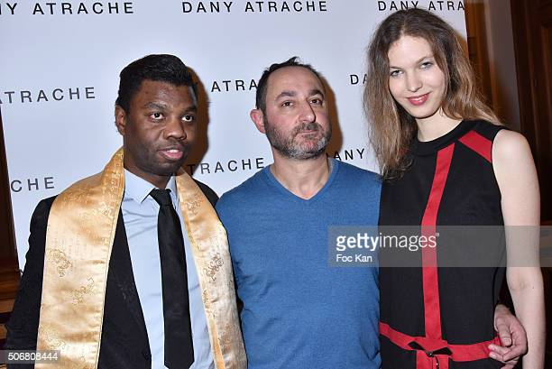 Jean Barthelemy Bokassa Dany Atrache and Melissa Mourer Ordener attend the Dany Atrache Spring Summer 2016 show as part of Paris Fashion Week on...