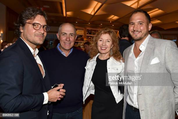 Jean Batiste Parvaix Michael Namer April Gornick and Nicky Ayattioni attend Cocktails to Learn About The Sag Harbor Cinema Project at Le Bilboquet on...