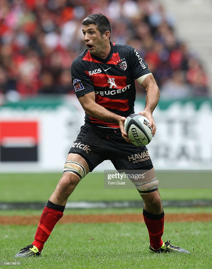 <a gi-track='captionPersonalityLinkClicked' href=/galleries/search?phrase=Jean+Bouilhou&family=editorial&specificpeople=572048 ng-click='$event.stopPropagation()'>Jean Bouilhou</a> of Toulouse during the French Top 14 Final match between Toulouse and RC Toulon at Stade de France on June 09, 2012 in Paris, France.