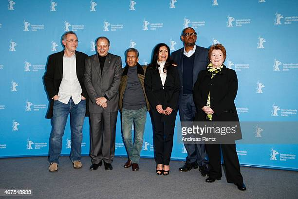 Jean Brehat Mustapha Orif Rachid Bouchareb Dolores Heredia and Brenda Blethyn attend the 'Two Men in Town' photocall during 64th Berlinale...