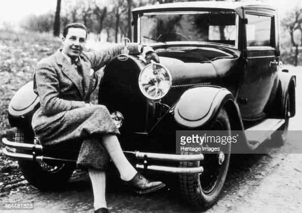 Jean Bugatti pictured with a Bugatti car 1930s The son of Ettore Bugatti the founder of Bugatti By 1936 he was made a director at his father's...