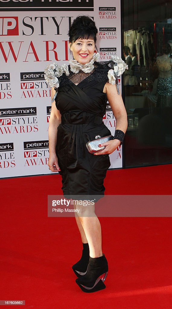 Jean Byrne attends the Peter Mark VIP Style Awards at Marker Hotel on April 26, 2013 in Dublin, Ireland.