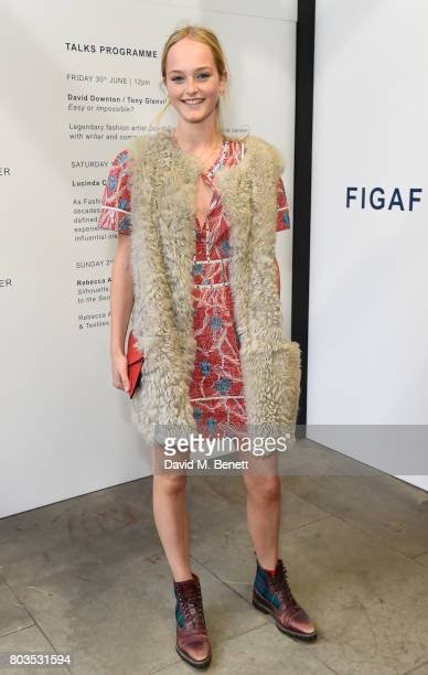 Jean Campbell attends the Fashion Illustration Gallery Art Fair private view at The Shop at Bluebird cohosted b Lucinda Chambers and Wendy Yu on June...