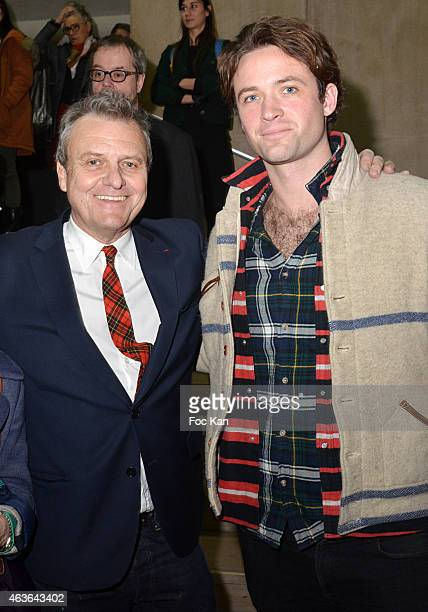 Jean Charles de Castelbajac and Louis Marie de Castelbajac attend 'Le Bord Des Mondes' Press Preview And African 'Sapeurs' Fashion Show At Palais de...