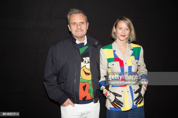 Jean Charles de Castelbajac and Pauline de Drouas attend the Lanvin show as part of the Paris Fashion Week Womenswear Spring/Summer 2018 at on...