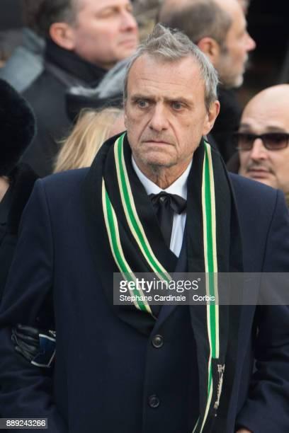 Jean Charles de Castelbajac during Johnny Hallyday's Funeral Procession at Eglise De La Madeleine on December 9 2017 in Paris France France pays...