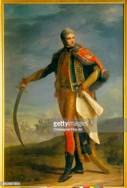 Jean Charles Nicaise Perrin Portrait of Jean Lannes Marshal of France Duke of Montebello in Hussars Colonel Uniform 18041809 Oil on canvas 215 x 140...