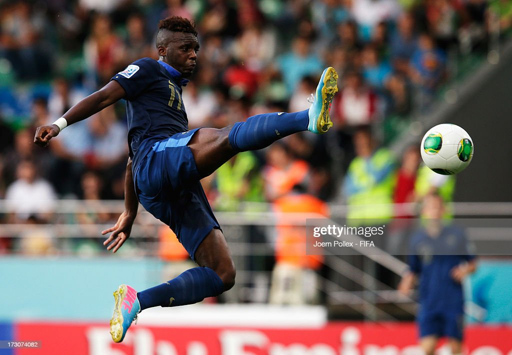 Jean Christophe Bahebeck of France controls the ball the ball during the FIFA U-20 World Cup Quarter Final match between France and Uzbekistan at Yeni Sehir Stadium on July 6, 2013 in Rize, Turkey.