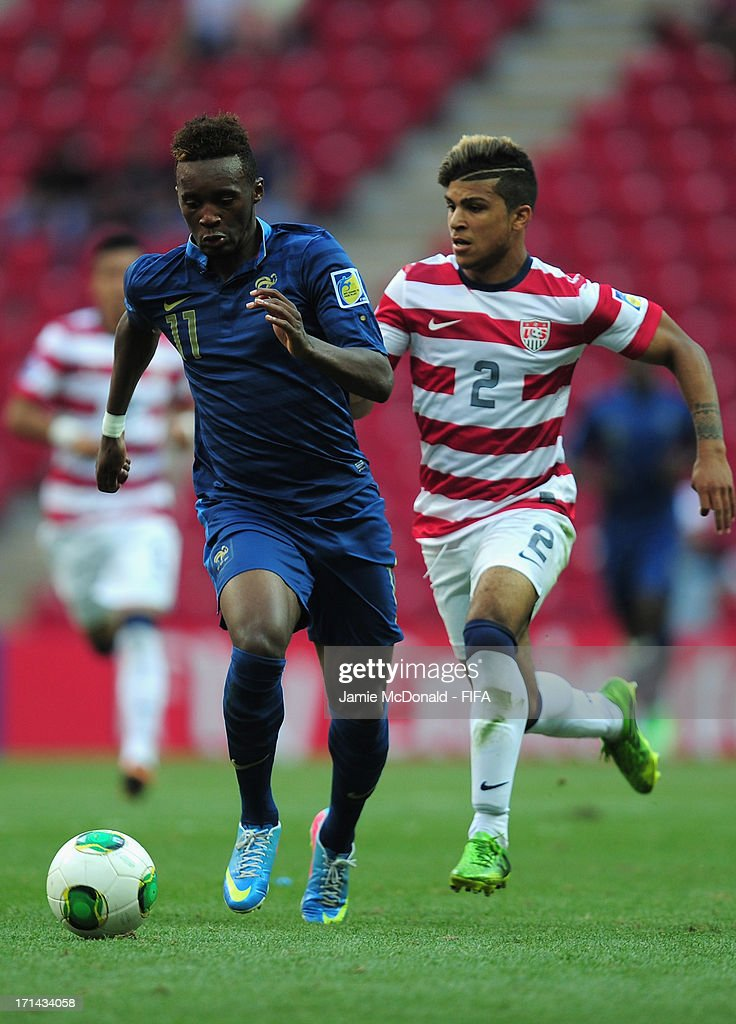 Jean Christophe Bahebeck of France in action during the FIFA U-20 World Cup Group A match between France and USA at the Ali Sami Yen Arena on June 24, 2013 in Istanbul, Turkey.