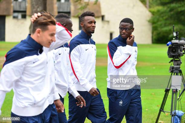 Jean Christophe BAHEBECK / Paul Georges NTEP Entrainement Equipe de France Espoirs Clairefontaine Photo Dave Winter / Icon Sport