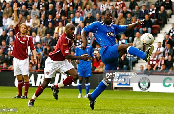 Jean Claude Darcheville of Rangers in action during the Scottish Premier League match between Hearts and Rangers at Tyncastle Park on September 15...