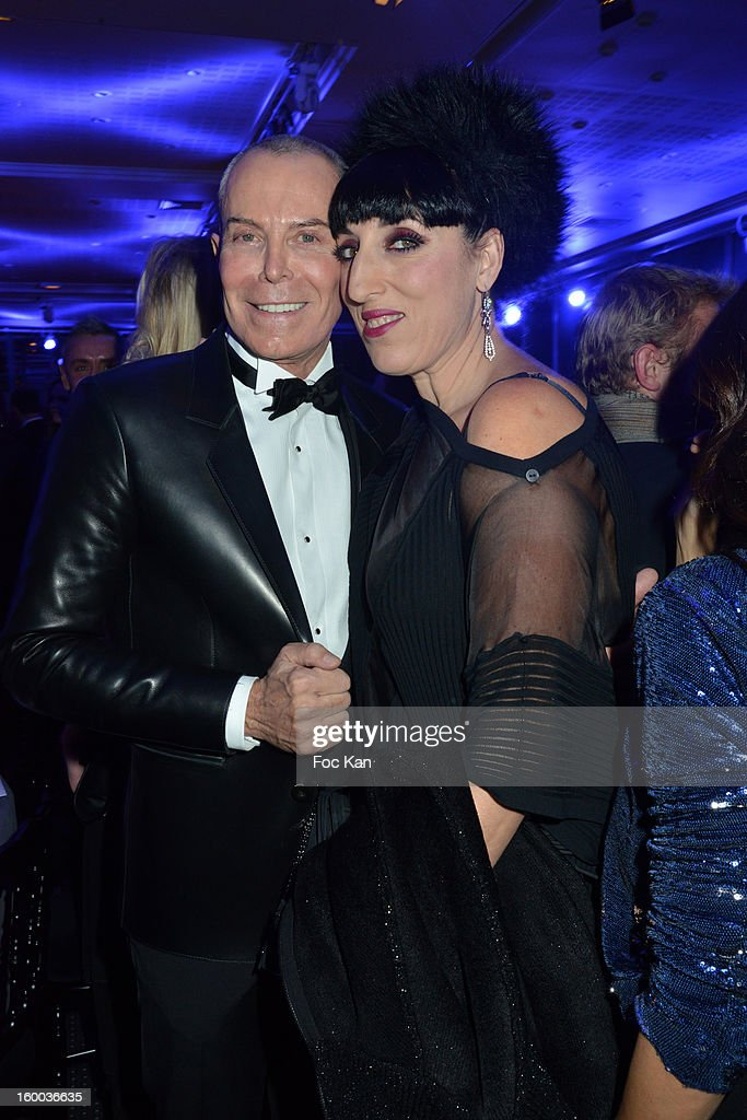 Jean Claude Jitrois and <a gi-track='captionPersonalityLinkClicked' href=/galleries/search?phrase=Rossy+de+Palma&family=editorial&specificpeople=624132 ng-click='$event.stopPropagation()'>Rossy de Palma</a> attend the Sidaction Gala Dinner 2013 at Pavillon d'Armenonville on January 24, 2013 in Paris, France.