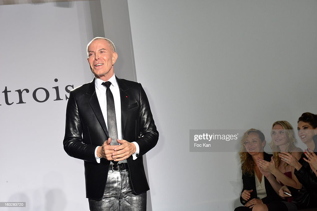 Jean Claude Jitrois walks the runway during the finale of Jitrois - Front Row - PFW F/W 2013 at Hotel Saint James & Albany on March 6, 2013 in Paris, France.