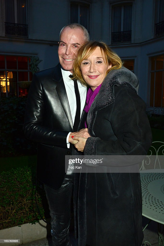Jean Claude Jitroisand Marie Anne Chazelattend the Jitrois - Front Row - PFW F/W 2013 at Hotel Saint James & Albany on March 6, 2013 in Paris, France.