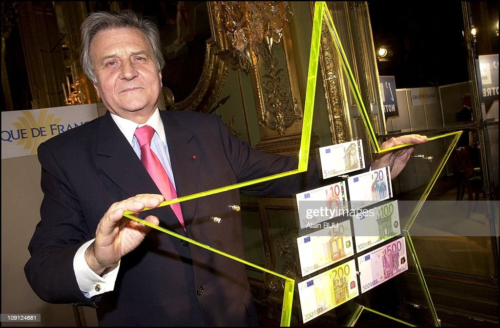Jean Claude Trichet The Governor Of The Bank Of France Presents Eurosysteme On May 9Th, 2001, France.