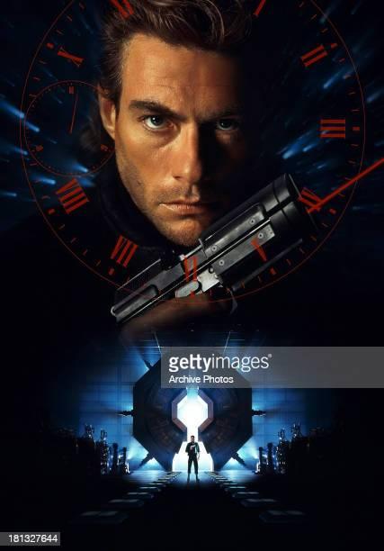 Jean Claude Van Damme in movie art for the film 'Timecop' 1994