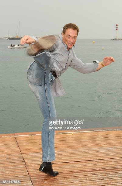 AP OUT Jean Claude Van Damme is seen at a photocall on the Majestic Pier in Cannes France