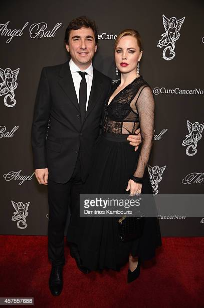 Jean David Blanc and actress Melissa George attend Angel Ball 2014 hosted by Gabrielle's Angel Foundation at Cipriani Wall Street on October 20 2014...