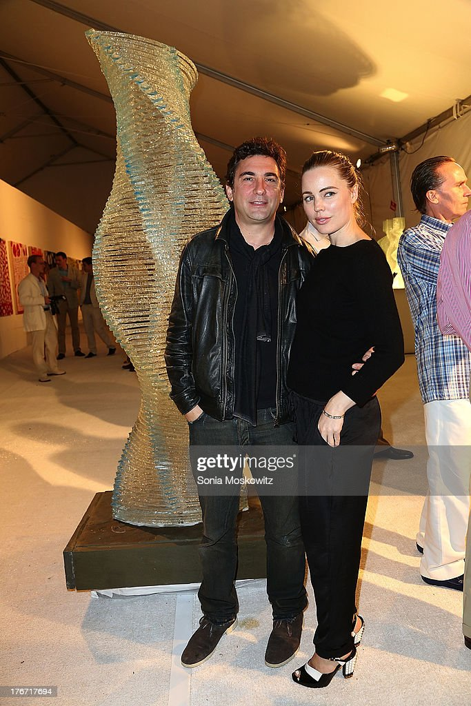 Jean David Blanc and Melissa George attend Domingo Zapata's A Contemporary Salon event on August 17, 2013 in Watermill, New York.