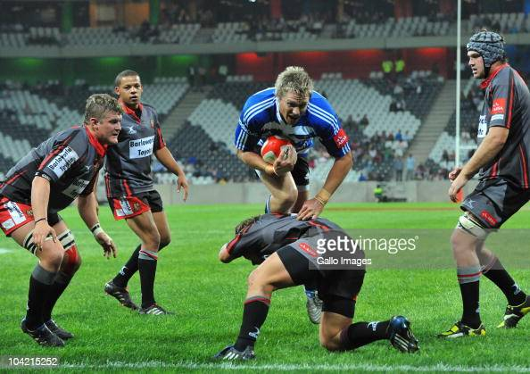 Jean de Villiers of Western Province goes over for his try during the Absa Currie Cup match between Pumas and Vodacom Western Province at Mbombela...