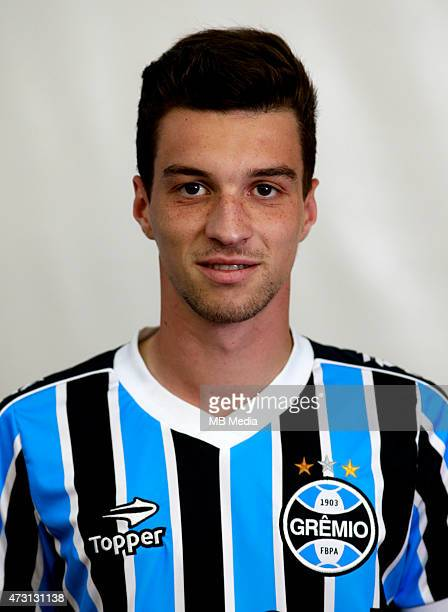 Jean Deretti of Gremio FootBall Porto Alegrense poses during a portrait session on August 14 2014 in Porto AlegreBrazil