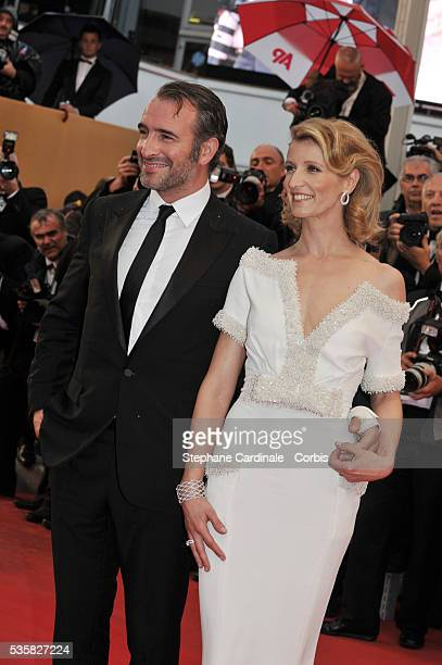 Jean Dujardin and Alexandra Lamy at the Closing Ceremony and the premiere for 'Therese Desqueyroux' during the 65th Cannes International Film Festival