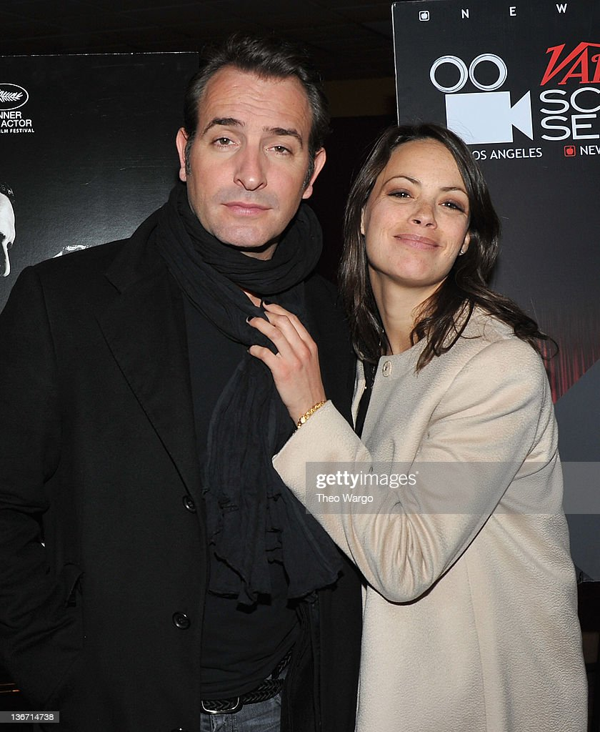 Jean Dujardin and Bérénice Bejo attend the Variety screening of 'The Artist' at Chelsea Clearview Cinemas on January 10 2012 in New York City