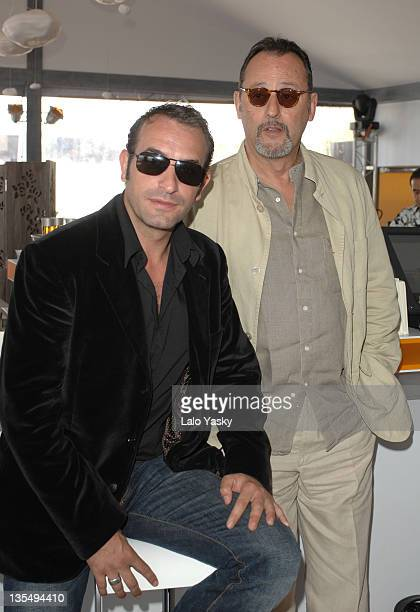 Jean Dujardin and Jean Reno during 2007 Cannes Film Festival 'Cash' Photocall at Palais des Festival in Cannes France