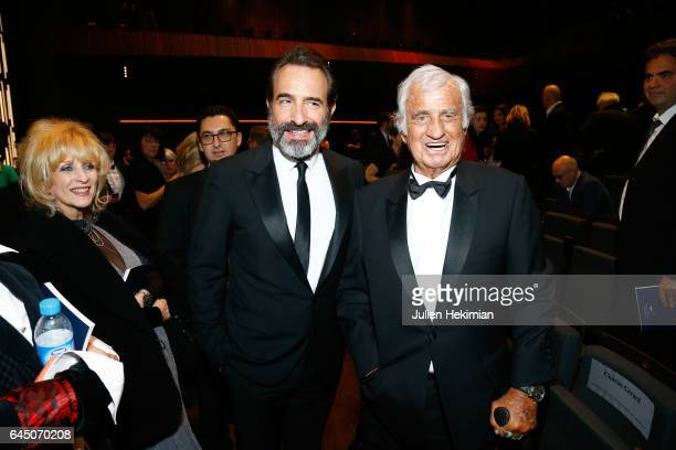Jean Dujardin and JeanPaul Belmondo pose during the Cesar Film Awards Ceremony at Salle Pleyel on February 24 2017 in Paris France