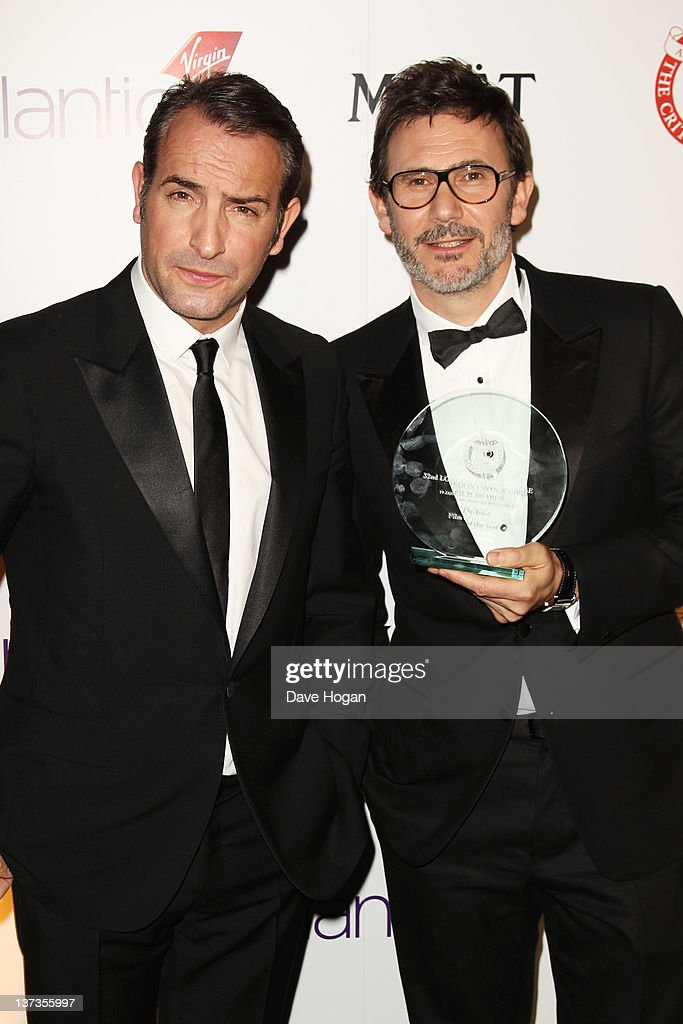 London film critics 39 circle awards 2012 press room for Dujardin hazanavicius