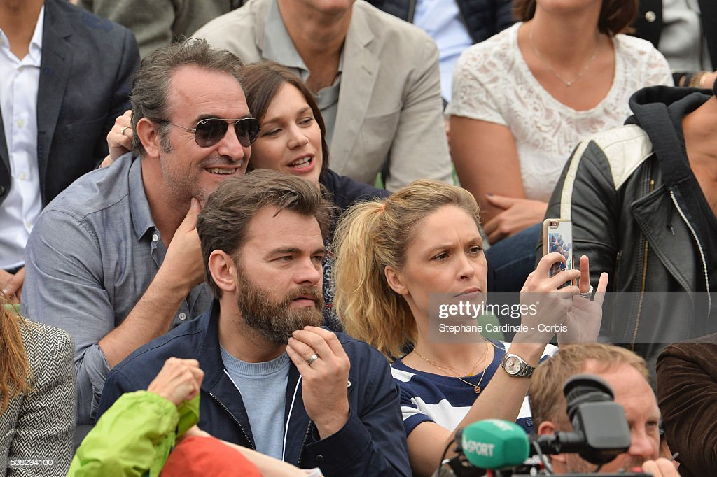 Celebrities at french open 2016 day fifteen getty images for Jean dujardin parents