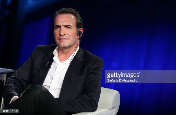 Jean Dujardin attends 'Che Tempo Che Fa' TV Show on February 9 2014 in Milan Italy