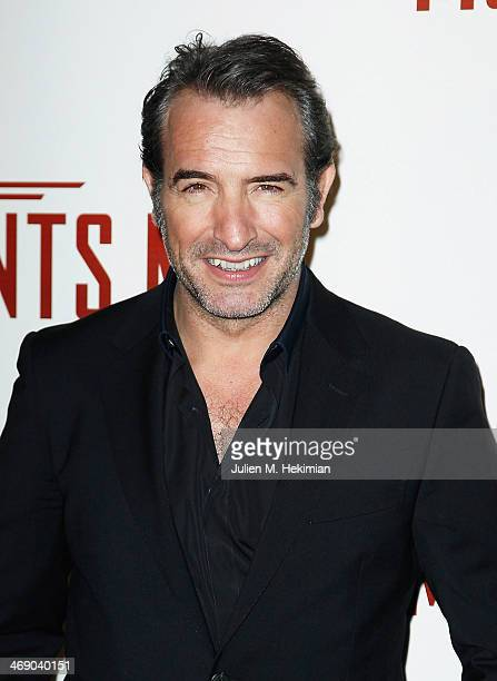 Jean Dujardin attends 'Monuments Men' Paris premiere at Cinema UGC Normandie on February 12 2014 in Paris France