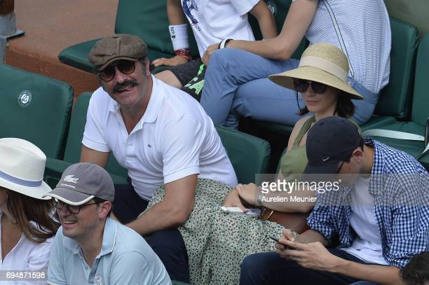 Jean Dujardin attends the men's single final match between Rafael Nadal of Spain and Stan Wawrinka of Switzerland on day fifteen of the 2017 French...