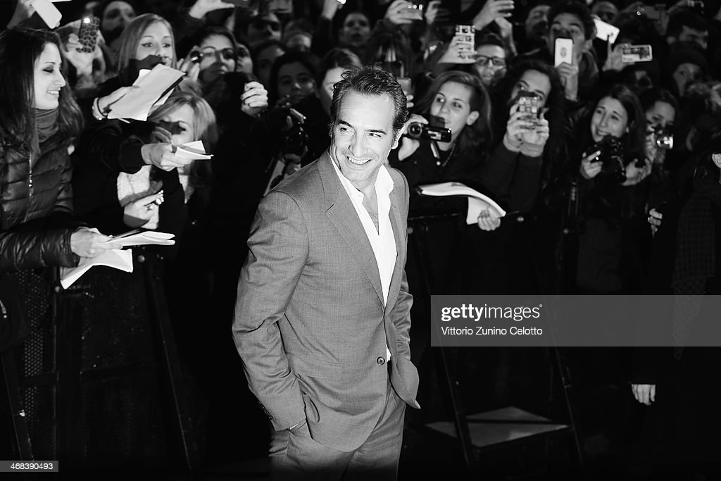 Jean Dujardin attends 'The Monuments Men' Milan Premiere on February 10 2014 in Milan Italy