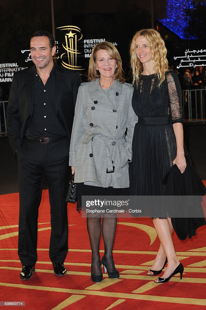 Jean Dujardin, Nicole Garcia and Alexandra Lamy attend the Tribute to French Cinema during the Marrakech 10th Film Festival.