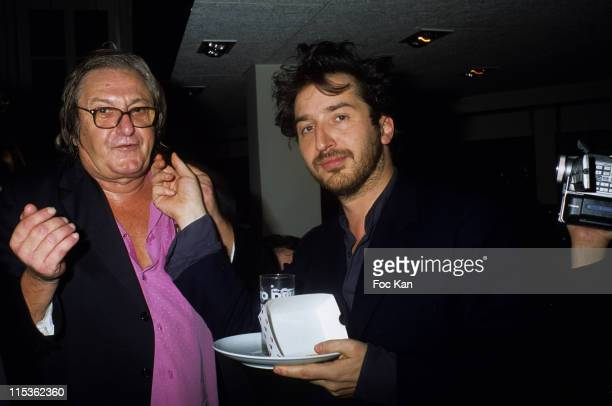 Jean Francois Bizot and Edouard Baer during The Food 2004 Awards Party at Apollo Restaurant in Paris France