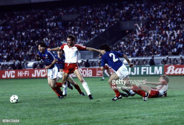Jean Francois Domergue of France during the European Championship match between France and Denmark at Parc des Princes Paris France on 12th June 1984