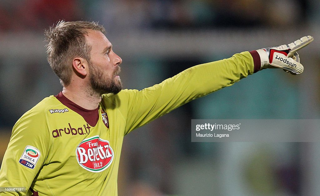 Jean Francois Gillet of Torino during the Serie A match between Calcio Catania and Torino FC at Stadio Angelo Massimino on January 5, 2013 in Catania, Italy.