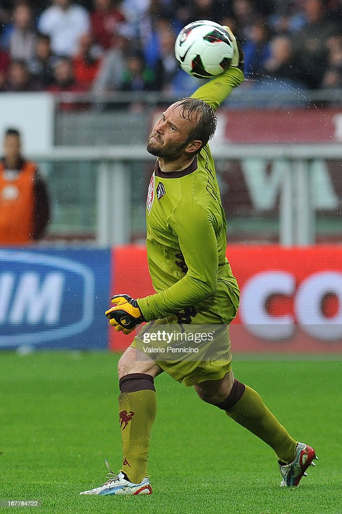 Jean Francois Gillet of Torino FC in action during the Serie A match between Torino FC and Juventus at Stadio Olimpico di Torino on April 28, 2013 in Turin, Italy.