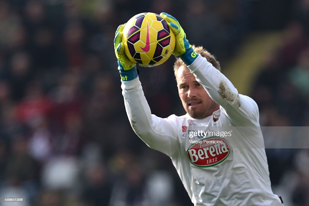 Jean Francois Gillet of Torino FC in action during the Serie A match between Torino FC v US Sassuolo Calcio at Stadio Olimpico di Torino on November 23, 2014 in Turin, Italy.