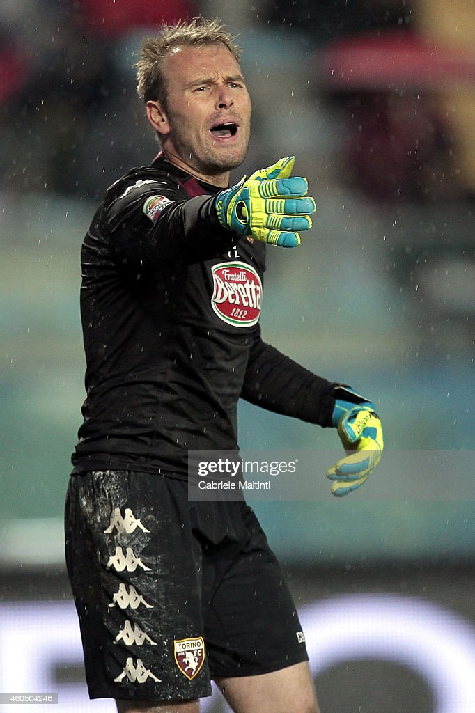 Jean Francois Gillet of Torino FC in action during the Serie A match between Empoli FC and Torino FC at Stadio Carlo Castellani on December 15, 2014 in Empoli, Italy.