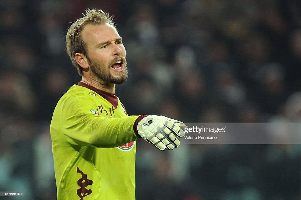 Jean Francois Gillet of Torino FC issues instructions during the Serie A match between Juventus and Torino FC at Juventus Arena on December 1, 2012 in Turin, Italy.