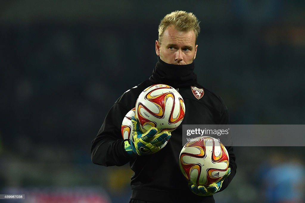 Jean Francois Gillet of Torino FC looks on prior to he UEFA Europa League group B match between Torino FC and Club Brugge KV on November 27, 2014 in Turin, Italy.