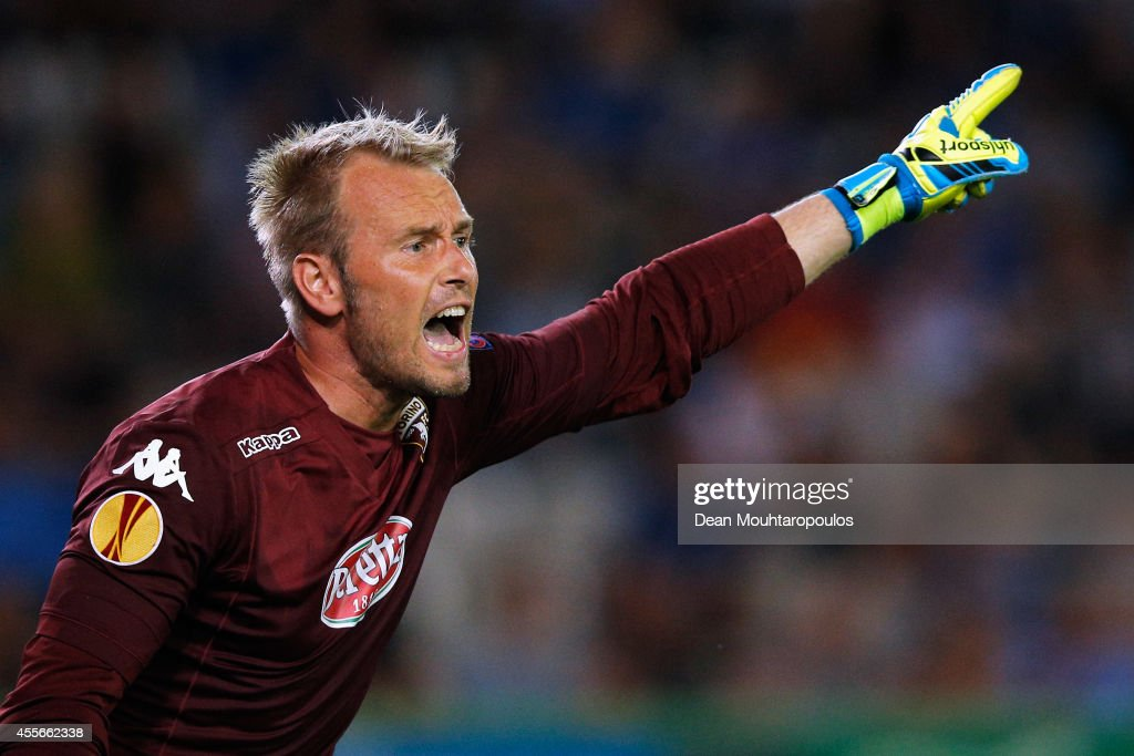 Jean Francois Gillet of Torino in action during the Group B UEFA Europa League match between Club Brugge KV and Torino FC at the Jan Breydelstadion on September 18, 2014 in Brussels, Belgium.