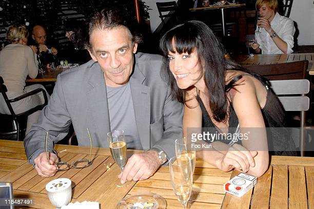 Jean Francois Lepetit and Lio during Shangri La Hotels and Resorts Cocktail Tribute to Zhang Ziyi at La Maison Blanche Restaurant in Paris France