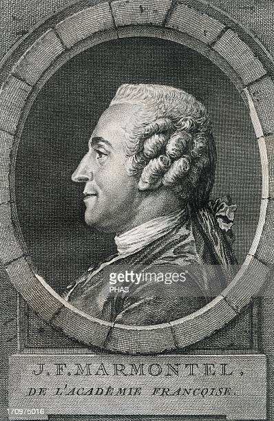 Jean Francois Marmontel French writer and historian Engraving 18th century